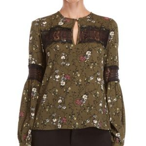 Walter Baker | NWT Erin floral long sleeve blouse
